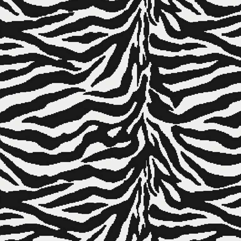1306695027 Zebra Desenli Proje Halısı