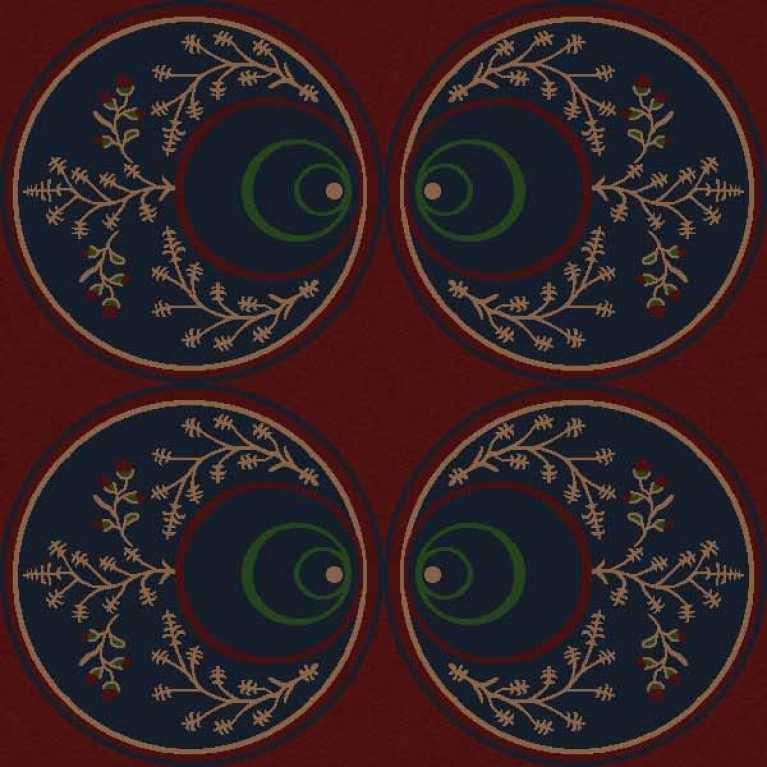 OS 09 108 - 01 Desenli Bordo Otel Halısı