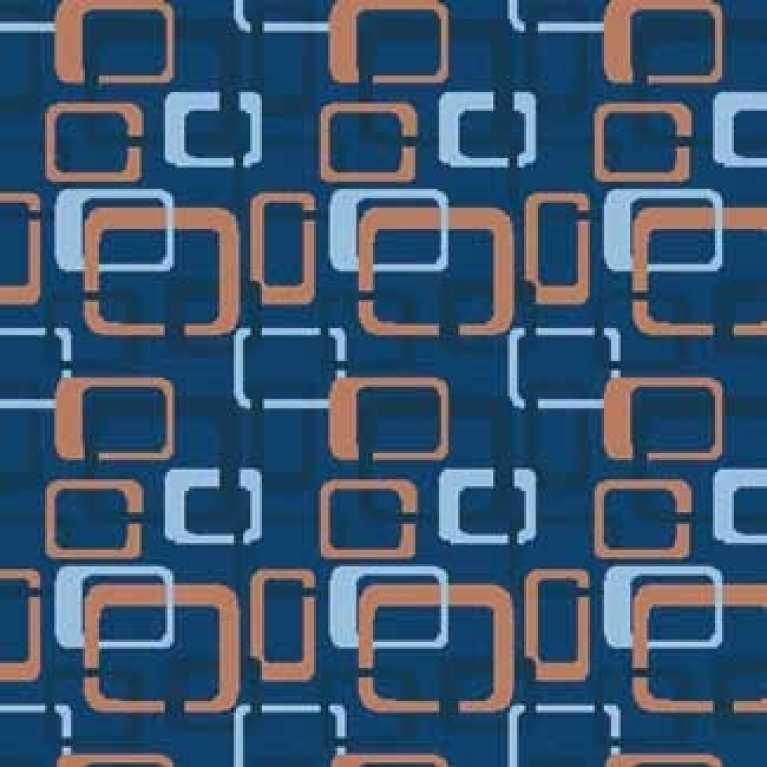 OS 10 061 - 02 Mavi Desenli Otel Halısı