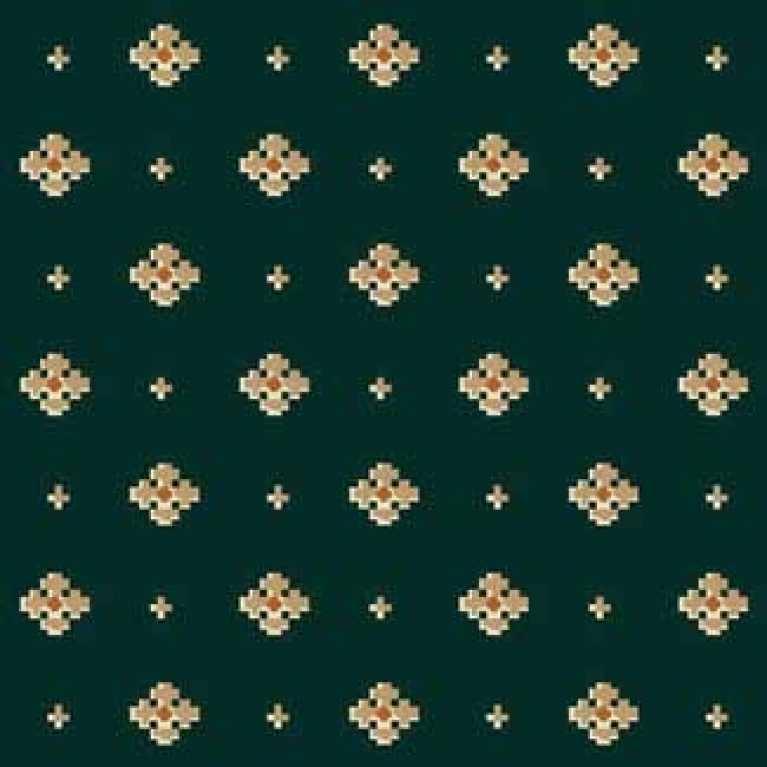 OS 11 064 - 05 Yeşil Desenli Otel Halısı