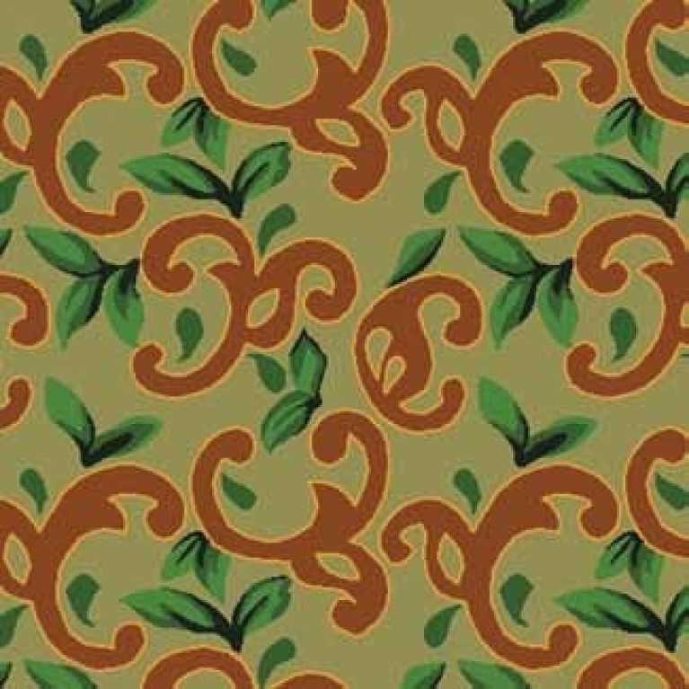S07 120 - 01 Yeşil Desenli Otel Halısı