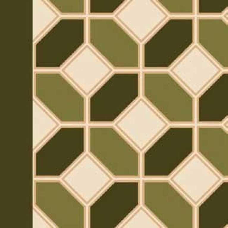 S07 187 - 09 Açık Yeşil Desenli Hotel Halısı