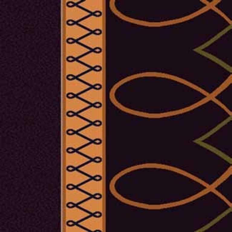 S10 012 - 02 Siyah Desenli Hotel Halısı