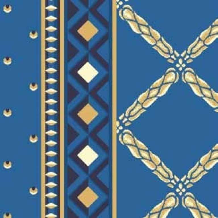 S10 073 - 10 Mavi Desenli Hotel Halısı